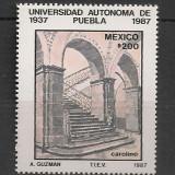 Mexic.1987 50 ani Universitatea Autonoma Puebla  SM.557, Nestampilat