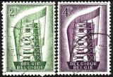 Belgia 1956 - Yv.no.994-5  stampilat europa cept