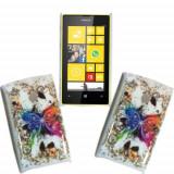 Husa silicon Nokia Lumia 520 + folie protectie ecran + transport gratuit - Husa Telefon