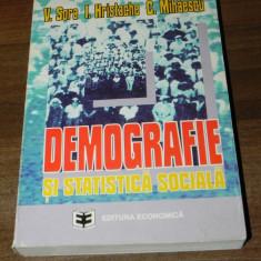 V SORA, I HRISTACHE, C MIHAESCU - DEMOGRAFIE SI STATISTICA SOCIALA - Carte Sociologie
