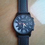 Vand Ceas Fashion Military Pilot Aviator Army Style Silicone Men Outdoor Sport Wrist Watch - Ceas barbatesc Aviator, Casual, Quartz, Inox, Cauciuc, Analog