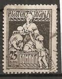 TIMBRE 101m, ROMANIA, 1921, ASISTENTA SOCIALA, 25 BANI, EROARE, L, ALB IN JURUL LUI L, EROARE, ERORI