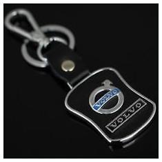 Breloc metalic cu piele inscriptionat Volvo + cutie - Breloc Auto