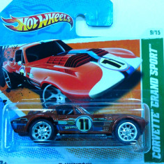 HOT WHEELS-TREA$URE HUNT$-CORVETTE GRAND SPORT ++2501 LICITATII !! - Macheta auto Hot Wheels, 1:64