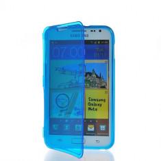 Husa flip transparenta Samsung Galaxy Note i9220 + folie protectie ecran + expediere gratuita