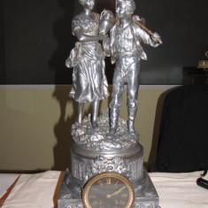 CEAS SEMINEU ANTIMONIU ARGINTAT STATUETA SEMNATA RANCOULET FRANTA 1890-1900 superb functional