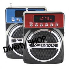 BOXA MP3 RADIO FM X-BASS KEMAI CARD MICRO SD , USB , ACUMULATOR SI AFISAJ