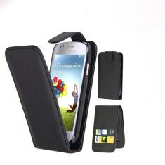 Husa Nokia Lumia 920 Flip Case Inchidere Magnetica Neagra - Husa Telefon Nokia, Negru, Piele Ecologica, Cu clapeta, Toc
