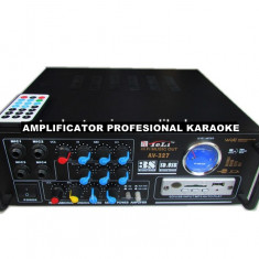 AMPLITUNER 80WATT, MP3 USB, RADIO, INT.MIC.KARAOKE, EQ GRAFIC, TELECOMANDA+MICROFON. - Amplificator audio, 41-80W