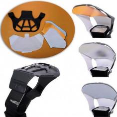 Flash Reflector Difuser Card cu 3 fete interschimbabile pt. blitz flash. - Bounce Diffuser Blitz Alta