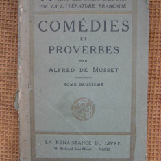 Alfred de Musset - Comedies et proverbes (in limba franceza) - Carte in franceza