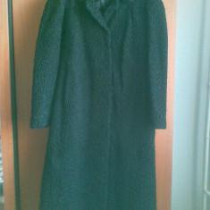 Palton astrahan din blana naturala marimea 50, este nou! - Palton dama, Culoare: Negru, Negru, Piele