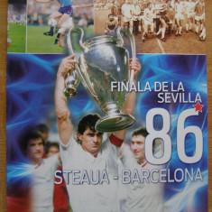 Finala de la Sevilla `86 Steaua Bucuresti - FC Barcelona - Program meci