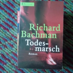 CARTE IN GERMANA -TODES-MARSCH DE RICHARD BACHMAN -ROMAN