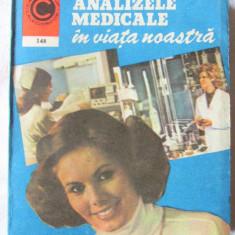 """ANALIZELE MEDICALE IN VIATA NOASTRA"", Dr. Ioan Nastoiu, 1984. Absolut noua, Alta editura"