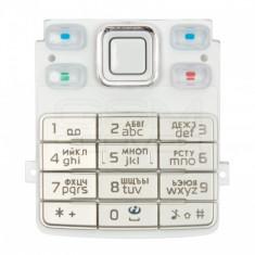 Carcasa carcase Tastatura Nokia 6300 Alba - Tastatura telefon mobil