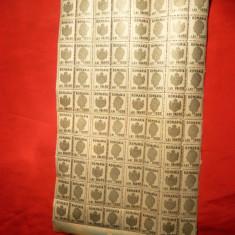 Coala 40 Timbre Fiscale cu matca, 1000 lei verde, Mihai I - Timbre Romania