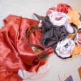 Buchet din Flori Brose - Accesoriu Nunta Mireasa - Artizanat - Handmade : Copper Wedding