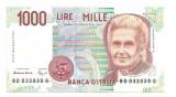 Italia 1000 lire 1990 XF