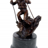 SCHIOR- STATUETA MODERNA DIN BRONZ - Sculptura, Abstract