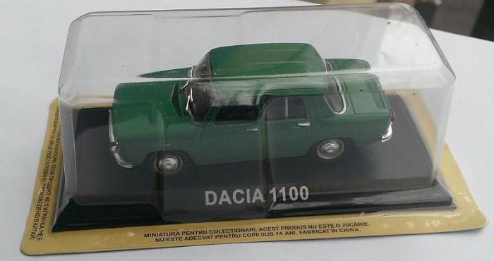 Macheta Dacia 1100 (1968) 1/43 + revista DeAgostini Masini de Legenda nr.5