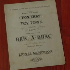 Partitura - interbelica ---- Toy Town - song - Lionel Monckton - 8 pagini