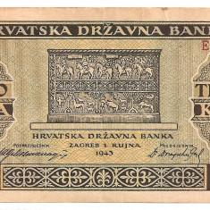 CROATIA 1000 KUNA 1943 VF