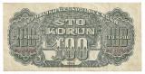 CEHOSLOVACIA 100 COROANE KORUN 1944 VF