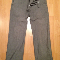 Pantaloni model gen ZARA, costum/casual barbati, moderni, noi, drepti, sigilati - Pantaloni barbati, Marime: Masura unica, Culoare: Gri, Lungi