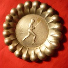 Scrumiera Trofeu Scrima, semnata, 1931, alpaca argintata, d= 7 cm