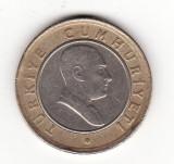 Turcia 50 yeni kurus 2005,  bimetalica
