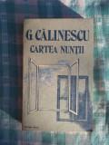 Cartea nuntii Calinescu G