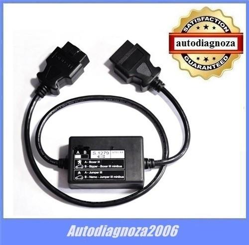 Cablu adaptor S.1279  - PP2000 tester Lexia3  Citroen Peugeot Boxer 3 Jumper 3 foto mare
