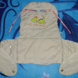Marsupiu / port bebe auto de la Prenatal; impecabil, aproape nou - Marsupiu bebelusi, 1-3 ani, Crem