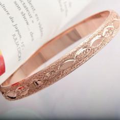 Bratara fixa filata placata cu aur roz 9k - gold filled 63*8mm - Bratara placate cu aur Guess, Femei