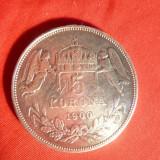 Moneda 5 Kor.1900 Ungaria Fr.Josef, argint, urme agatatoare pe contur
