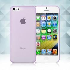 Husa plastic 0,3 mm Iphone 5C 5 C + folie protectie + expediere gratuita