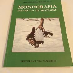 Monografia Cocosului De Mesteacan - Alexandru Filipascu, Cartea este noua ! - Carte Biologie