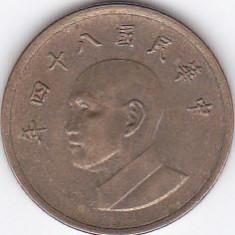 Moneda China ( Taiwan ) 1 Yuan 84 (1995) - KM#551 VF, Asia