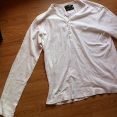 Bluza barbateasca cu maneca lunga Fox originala - Bluza barbati fox, Marime: L, Culoare: Alb, Anchior, Bumbac