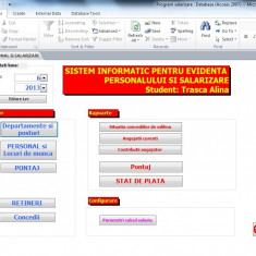 Proiect Access - PSI - Personal si salarizare - Solutii business