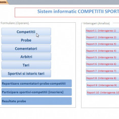 Proiect Access PSI - Competitii sportive - Solutii business