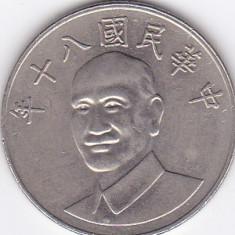 Moneda China ( Taiwan ) 10 Yuan 80 (1991) - KM#553 XF, Asia