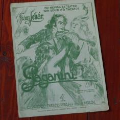 Partitura - interbelica ---- Noi mergem la Teatru - muzica Franz Lehar - aus der Operette,, Paganini,, - 6 pagini