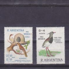 Fauna, pasari 1966, Argentina. - Timbre straine, America Centrala si de Sud