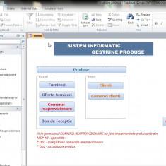 Proiect PSI Access SIG - Gestiune produse comenzi clienti si aprovizionare - Solutii business