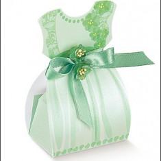 Marturii nunta / botez - rochita verde - Marturii botez