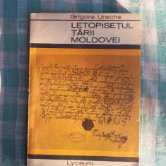 Letopisetul Tarii Moldovei Grigore Ureche - Roman