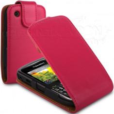 Toc piele rosu flip Blackberry 8520 / 9300