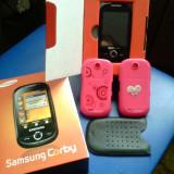Vand samsung corby roz 130 lei fara baterie - Telefon Samsung, 1GB, Neblocat, Single core, 1 GB